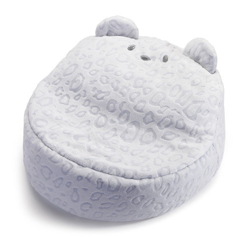 teal faux fur saucer chair rocking baby demdaco nat & jules paden bear bean bag - walmart.com