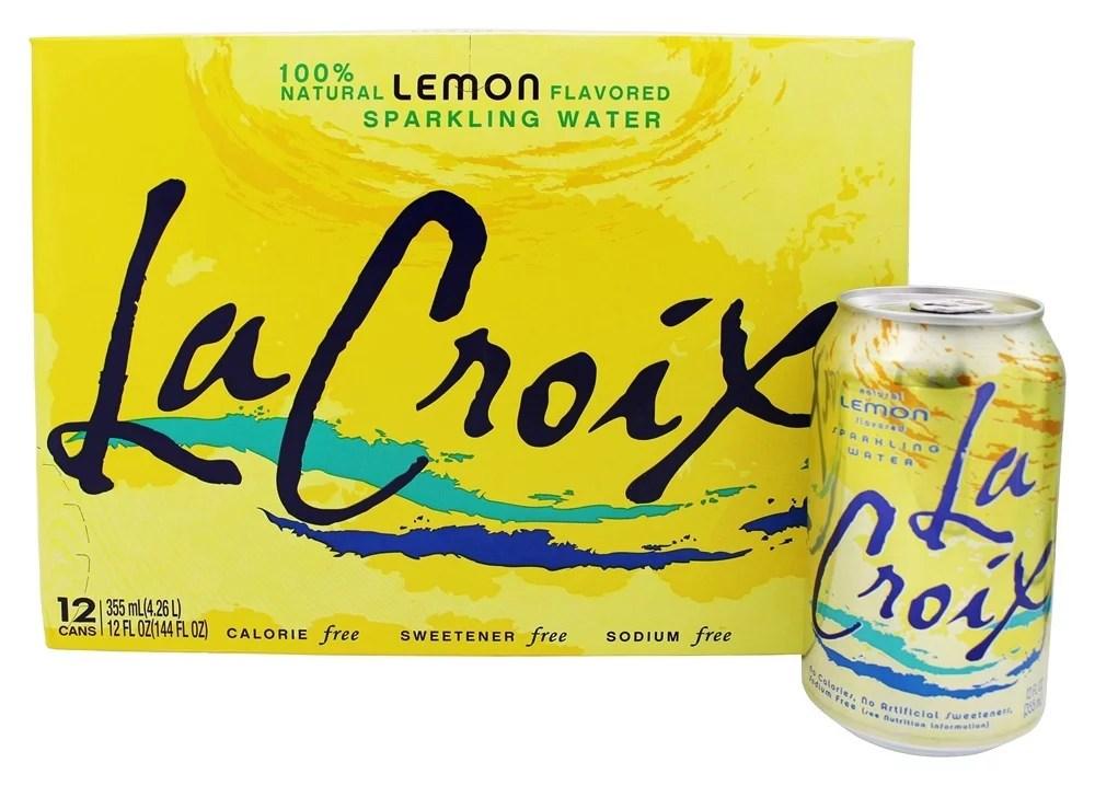 LaCroix 100 Natural Sparkling Water Lemon 12 Cans