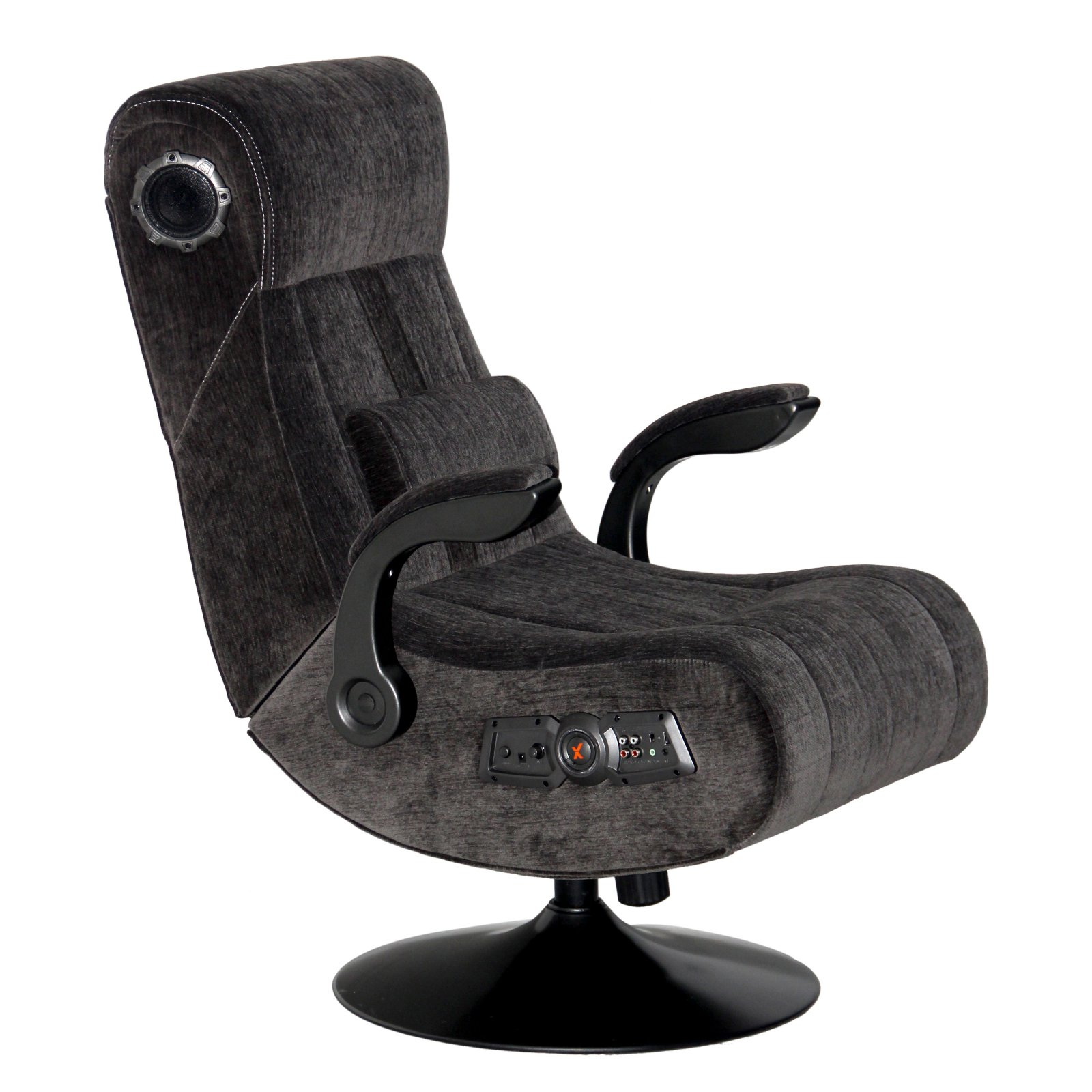 walmart game chairs x rocker office pedestal video chair 2.1 with wireless bluetooth audio - charcoal walmart.com