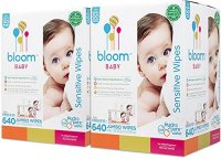 bloom Baby Wipes + Wipes Holder, Sensitive, Unscented ...