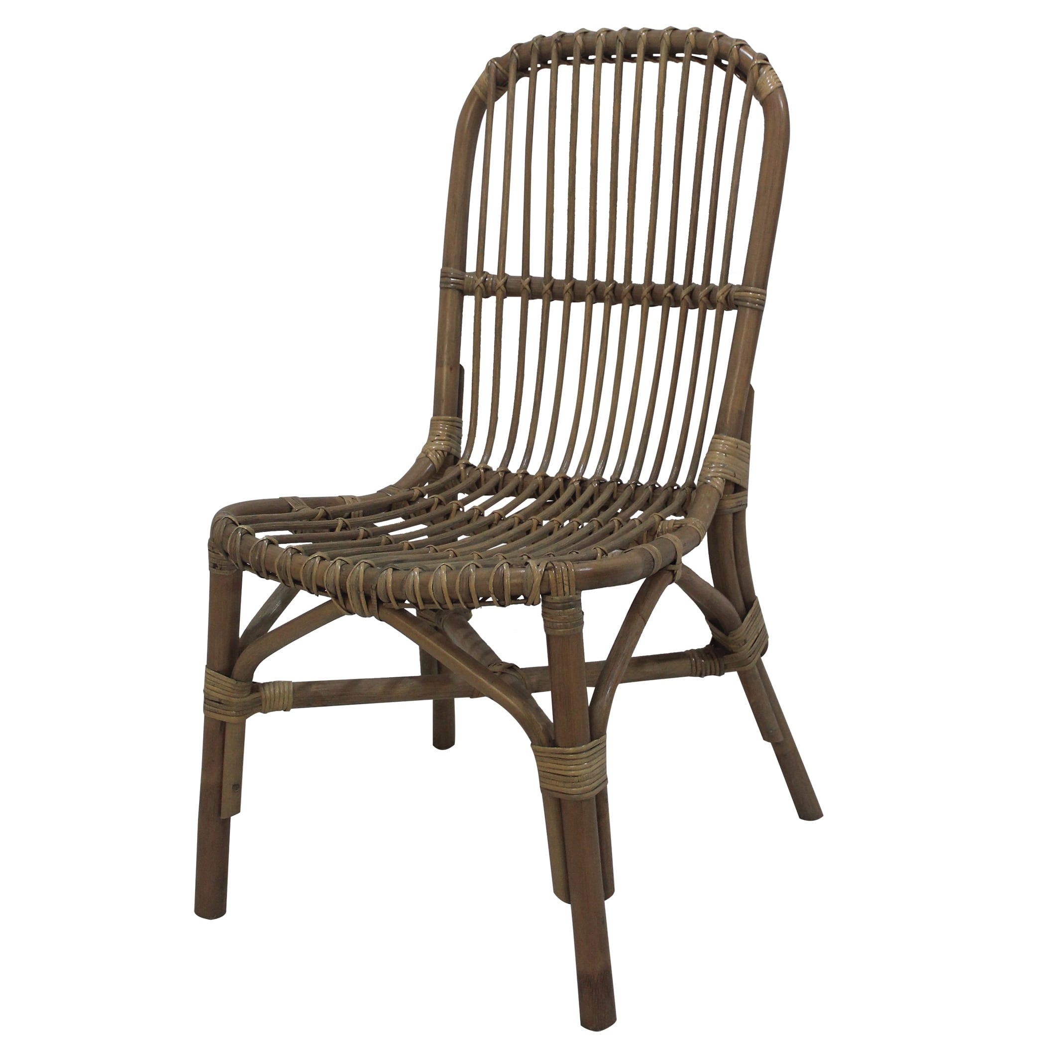 Rattan Accent Chair A B Home Nebula Brown Rattan Accent Chair