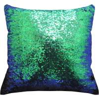 "Mainstays Reversible 17"" x 17"" Sequin Mermaid Decorative ..."