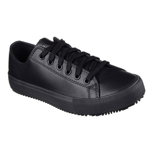 Womens Black Slip Resistant Sneakers