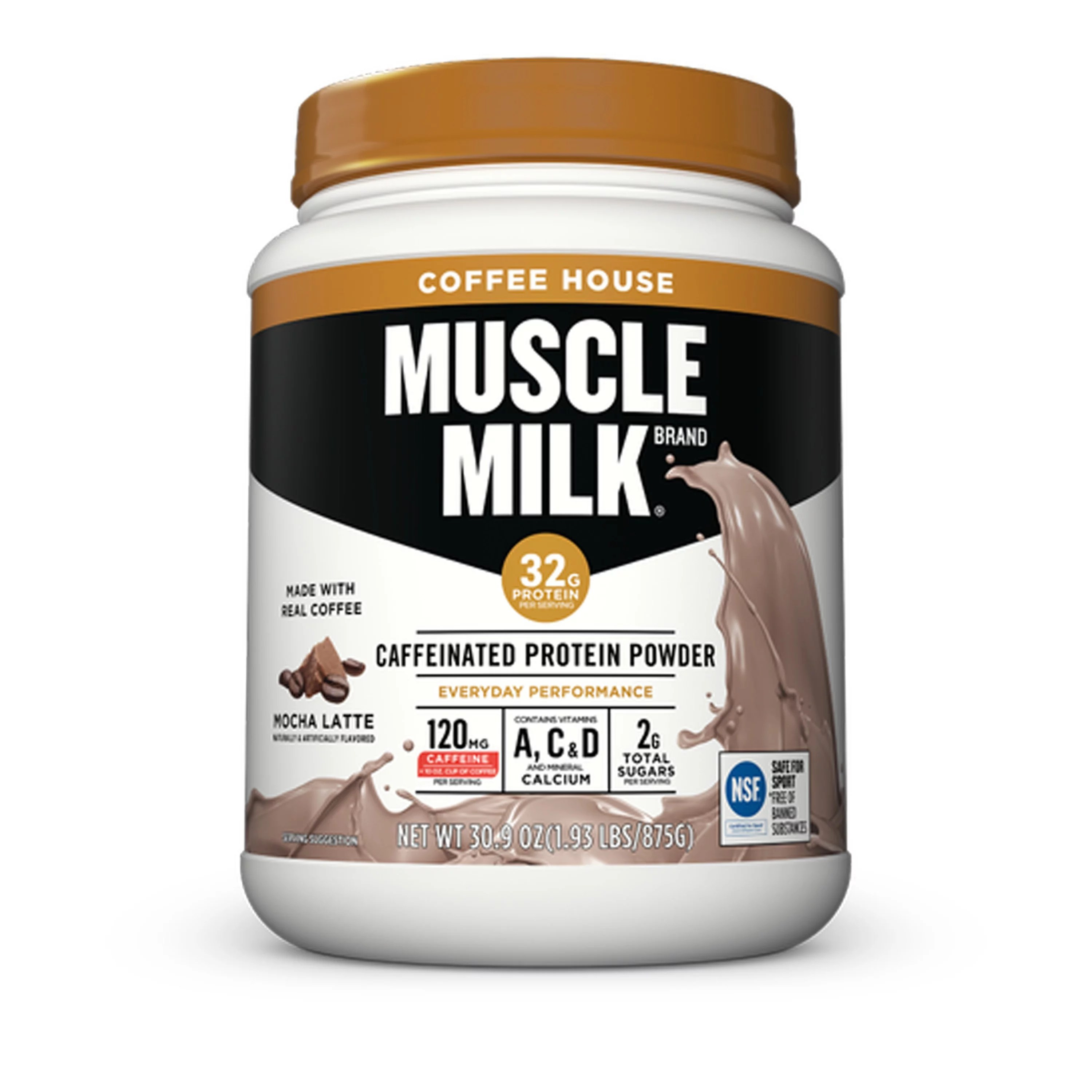 Muscle Milk Coffee House Mocha Latte Caffeinated Protein ...
