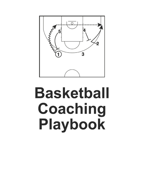 Basketball Coaching Playbook : 100 Blank Templates to