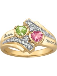 Keepsake Personalized Family Jewelry Serenade Promise Ring ...