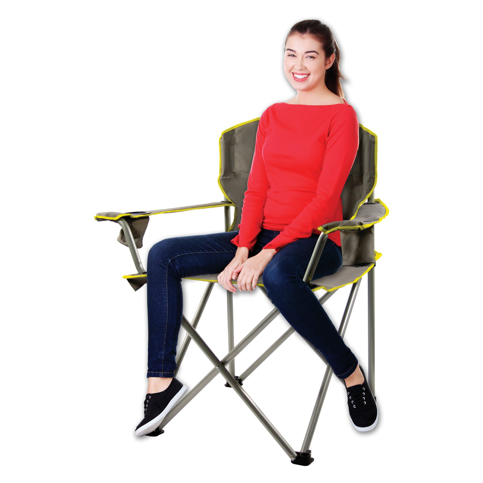 Quik Shade Heavy Duty Folding Chair  Grey  Walmartcom