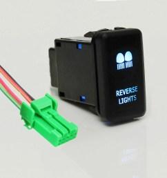 matcc 12v led blue light push button switch on off w 4 wire wiring harness for landcruiser hilux prado cruiser fj led light bar driving reverse spot work  [ 1200 x 1200 Pixel ]