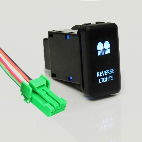 small resolution of matcc 12v led blue light push button switch on off w 4 wire wiring harness for landcruiser hilux prado cruiser fj led light bar driving reverse spot work