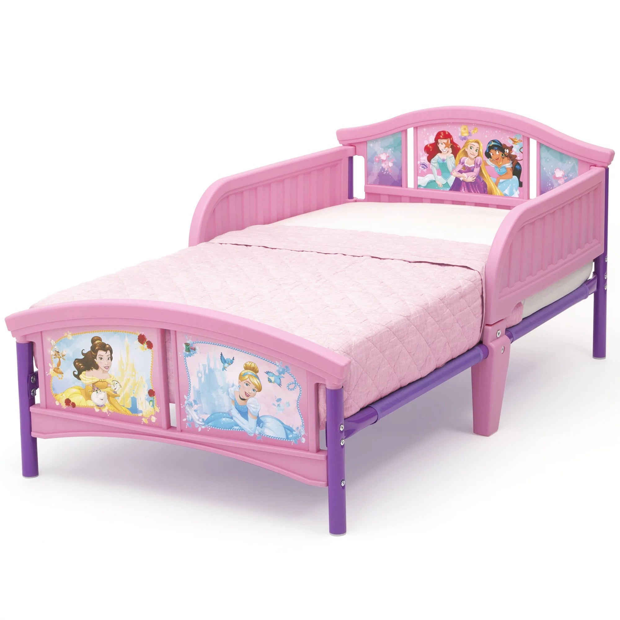Disney Princess Plastic Toddler Bed By Delta Children Forever Princess Mattress Not Included Walmart Com Walmart Com