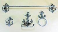 Nautical Anchor Bathroom Accessory Set by COI - Walmart.com