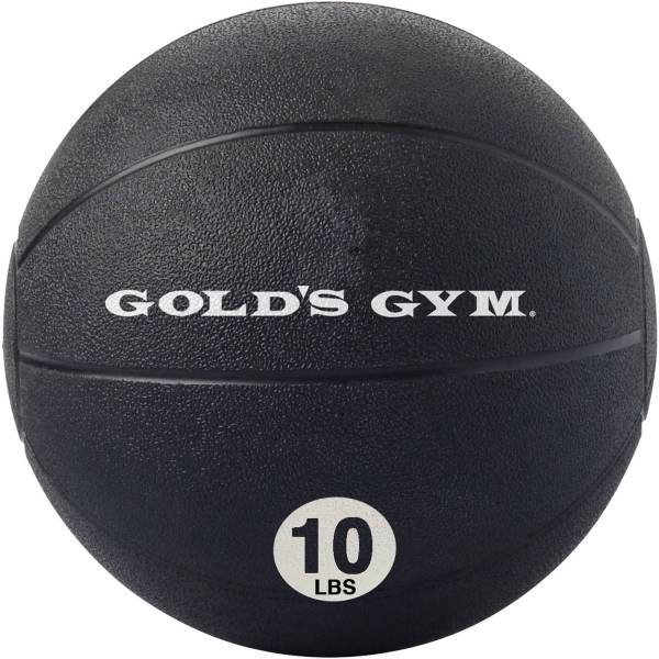 Golds Gym Medicine Ball Weighted Rubber Workout Exercise Fitness 10 Lb