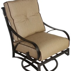 Patio Swivel Rocker Chairs Mid Century High Back Chair Newport Cast Aluminum Outdoor Club With Cushion Walmart Com