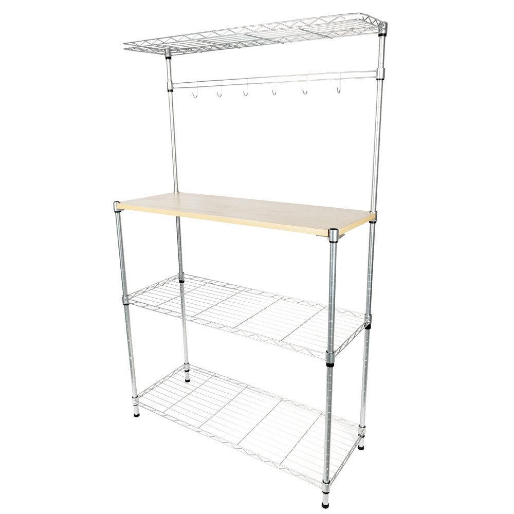 kitchen bakers rack counter top zimtown 4 tier home dining microwave stand storage shelf workstation walmart com