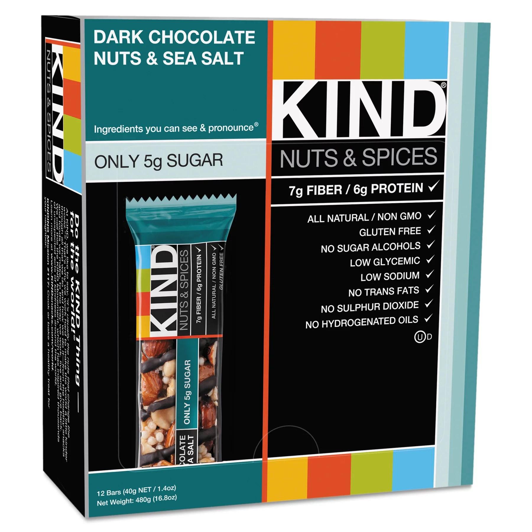 UPC 602652176517 Kind Bar Dark Chocolate Nts Sea Salt 1