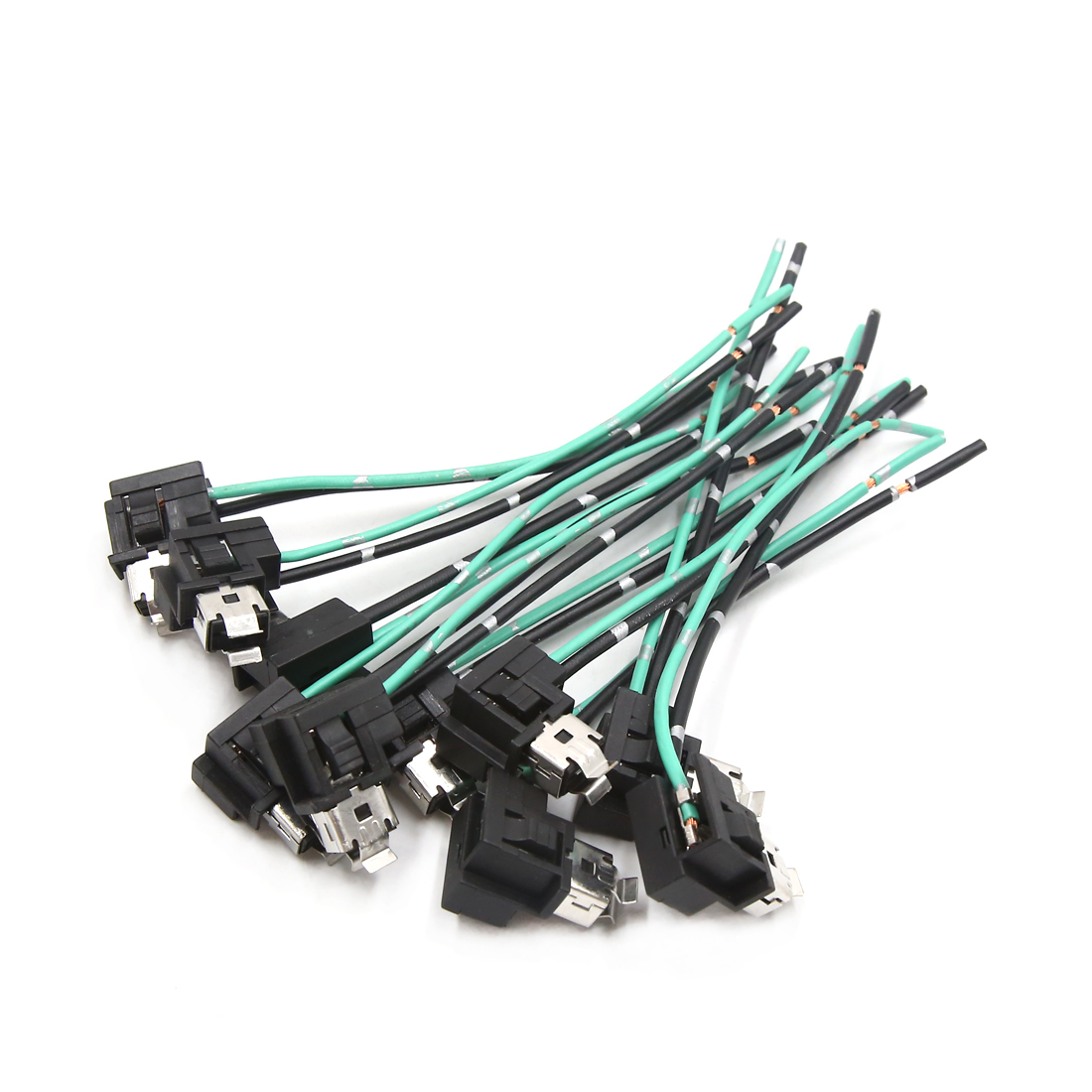 hight resolution of 10pcs h1 halogen fog light lamp extension wire harness socket connector for car