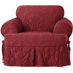 Chair Slipcover T Cushion Pottery Barn And A Half Sure Fit Matelasse Damask Walmart Com