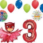 Mayflower Products Pj Masks Catboy 3rd Birthday Party Supplies Balloon Bouquet Balloons Greeting Cards Party Supply