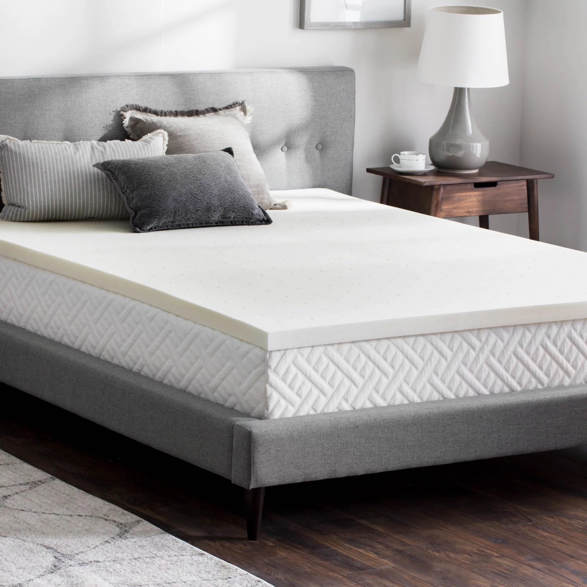 queen memory foam mattress pad walmart