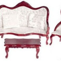 Queen Anne Living Room Sets Ceiling Light Ideas Dollhouse Walnut Victorian Set Walmart Com