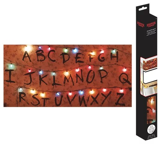 stranger things lights roomscapes poster decal 18 x 24
