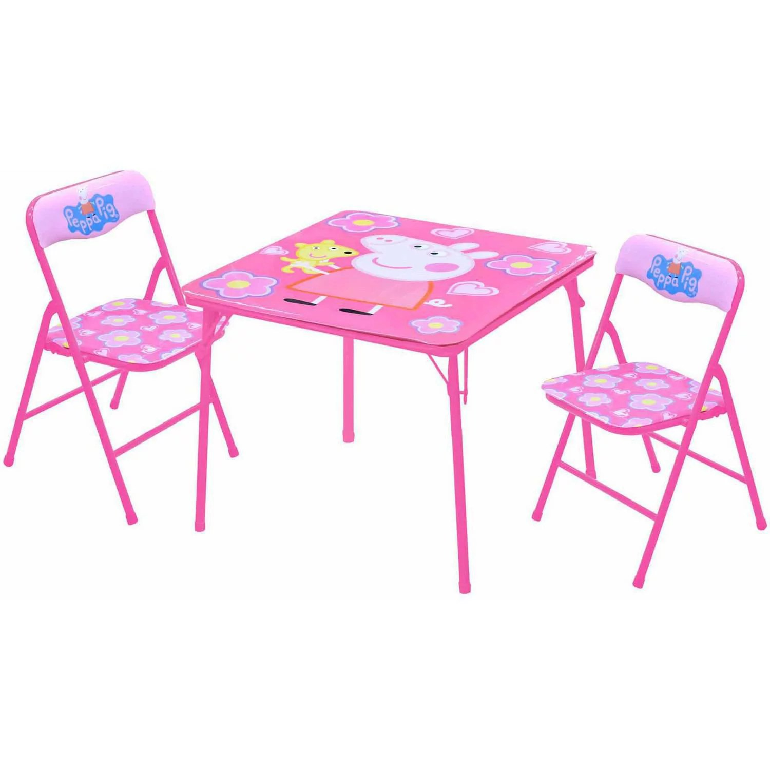 walmart table and chair sets how much are covers sashes peppa pig set com