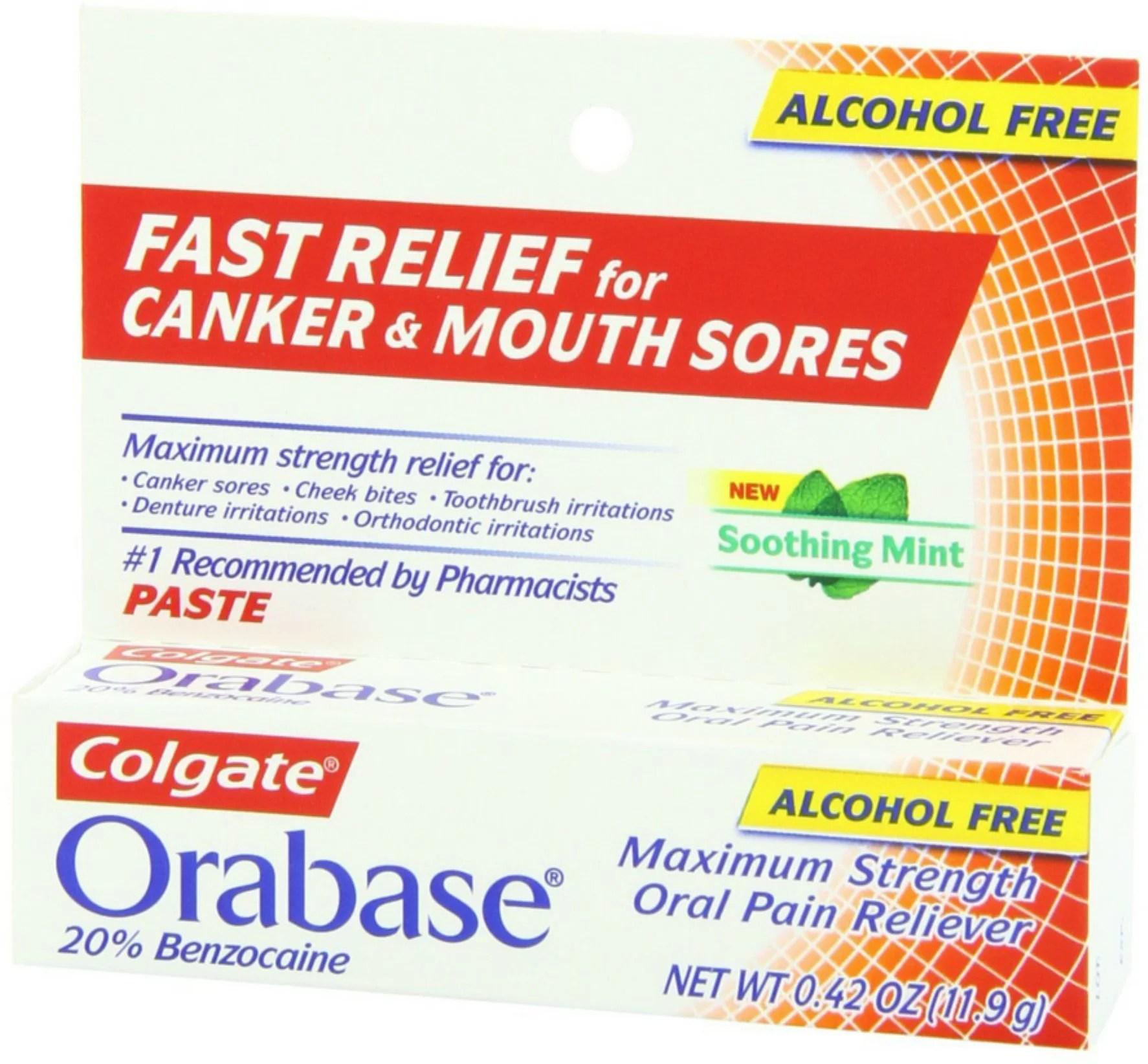 Colgate Orabase Paste 12 g (Pack of 3) - Walmart.com