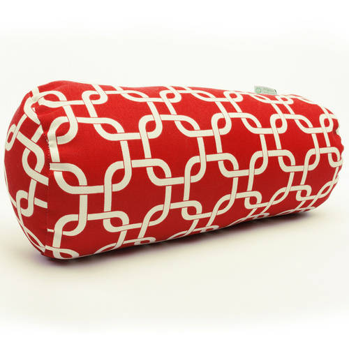 red links round bolster pillow 18 5x8