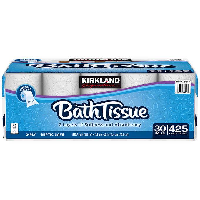 Kirkland Signature Bath Tissue 2Ply 425 sheets 30