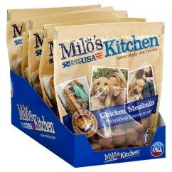 Milos Kitchen Marielle Faucet Milo S Chicken Meatballs Dog Treats 10 Ounce Walmart Com