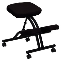 Ergonomic Posture Kneeling Chair Dining Room Table Cushions Steel Frame Office Black Walmart Com
