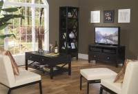 Modern Living Room Set with TV Console, Bookcase & Coffee ...
