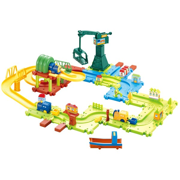 Toy Train Toddlers - 58 Piece Plastic Deluxe Set