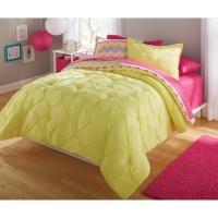 your zone bedding comforter set, bright chevron - Walmart.com