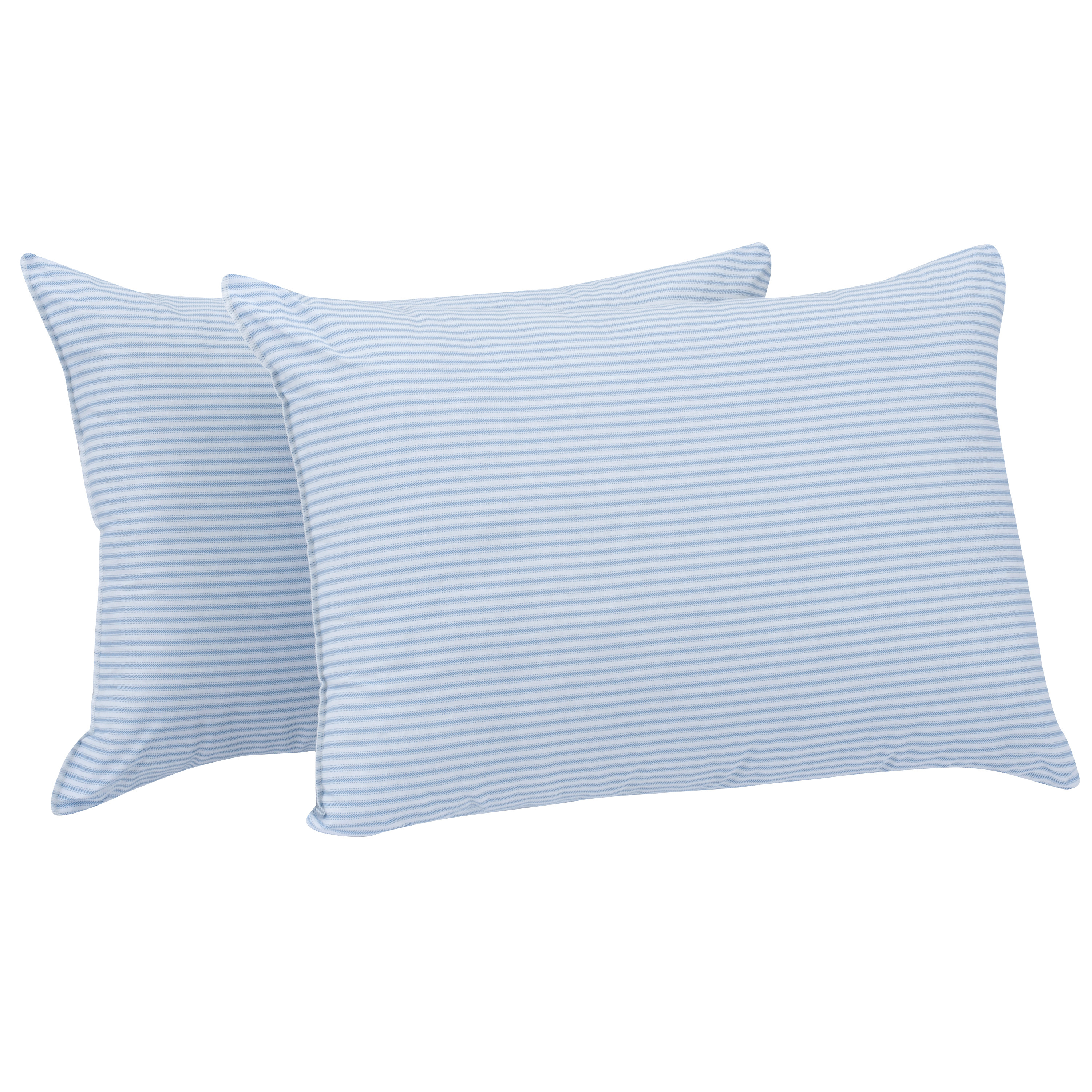 mainstays huge pillow 20 x28 in blue and white stripe set of 2