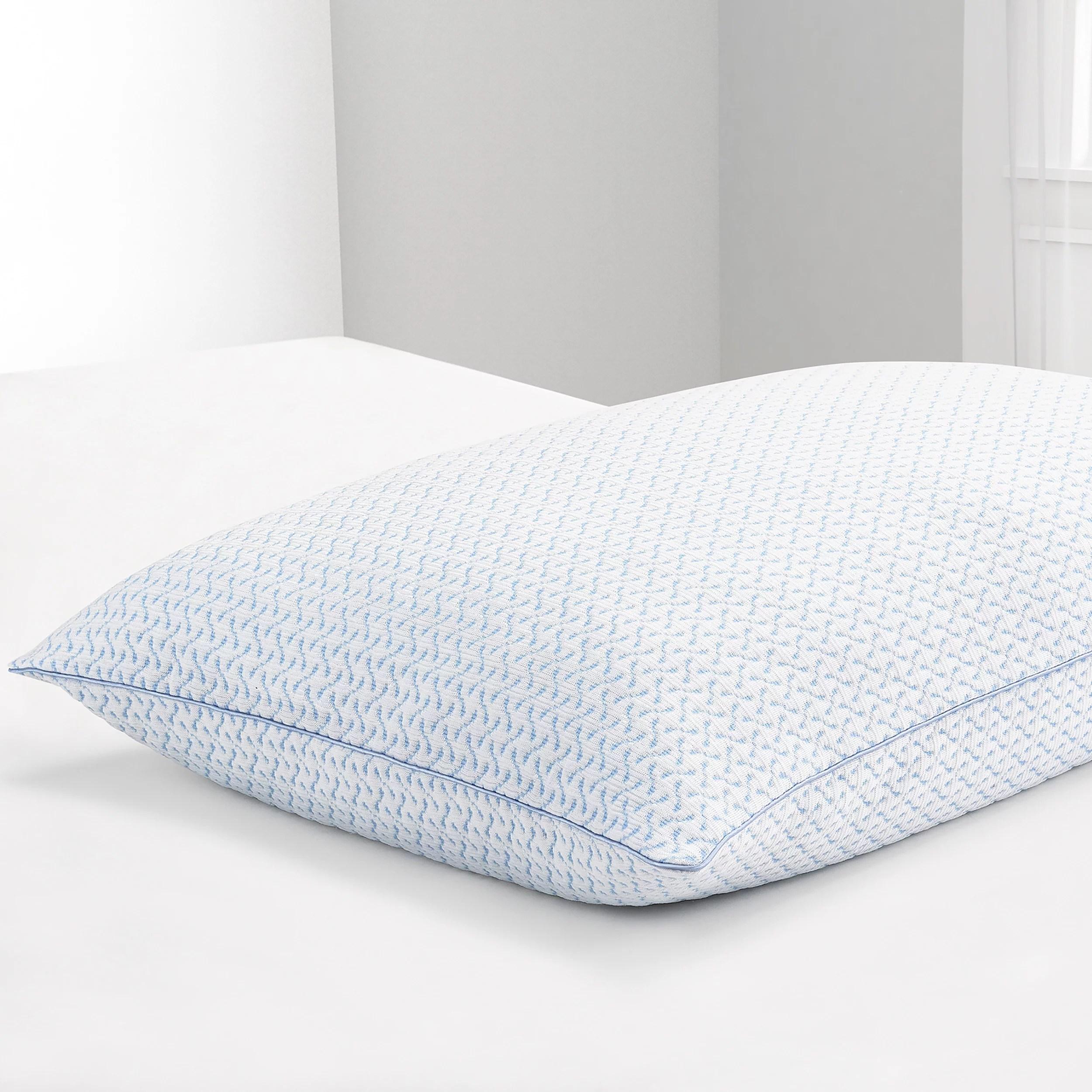 beautyrest silver sensacool shapeable memory foam cluster pillow