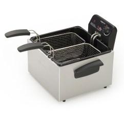 Kitchen Fryer Moen Faucet Hands Free Presto 05466 Stainless Steel Dual Basket Profry Immersion Element Deep Walmart Com