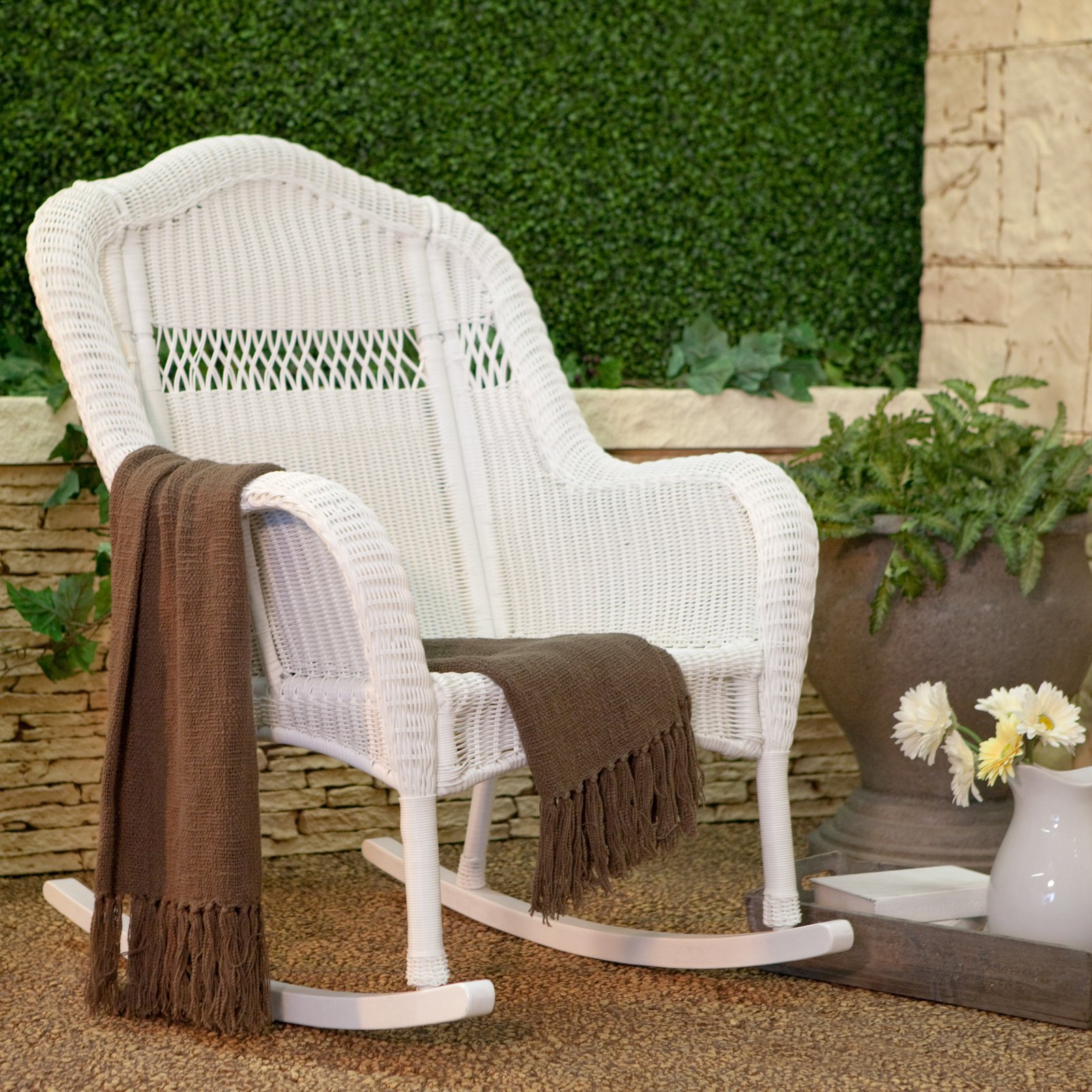 Coral Coast Casco Bay Resin Wicker Rocking Chair  Walmartcom