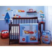 "Disney Car's ""Little Racer"" Four Piece Crib Bedding Set ..."