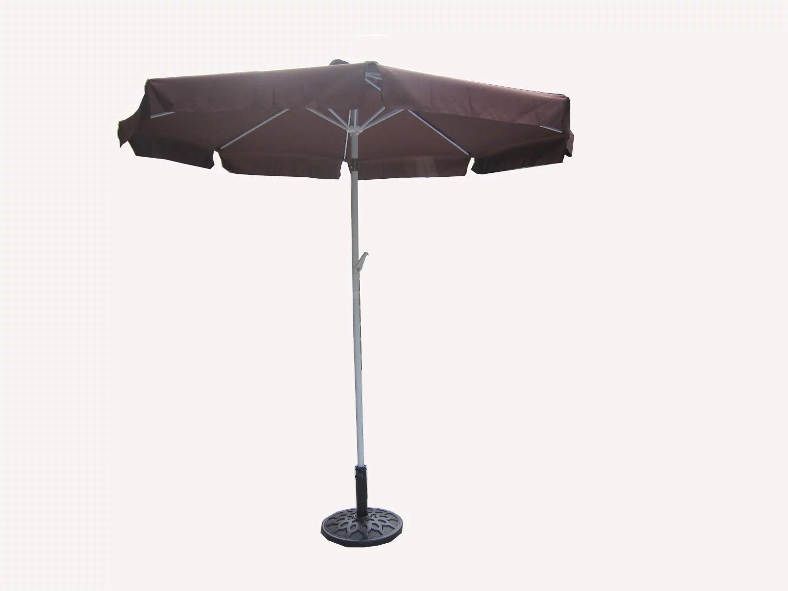 Outdoor Patio Market Umbrella 75 Ft With Hand Crank