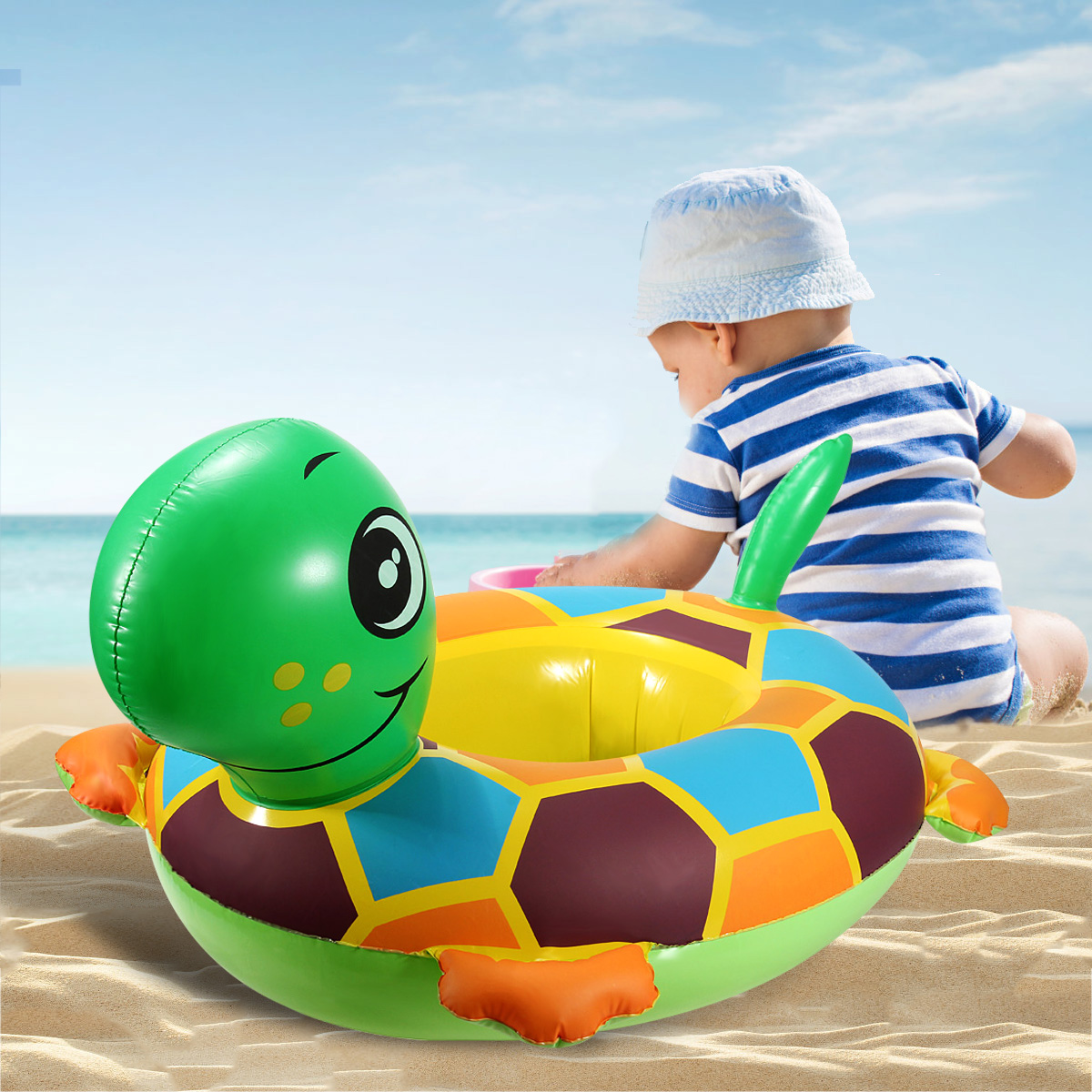 baby blow up ring chair chocolate dining covers cute tortoise inflatable swim pool raft seat float water fun toy gift outdoor play pvc walmart com