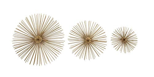 Deco 79 50370 Metallic Gold Starburst Metal Wall Decor 3d Wall Art Modern Wall Decor Gold Orbs For Wall Gold Decor Decorating Ideas Set Of 3 12 9 6 Walmart Canada