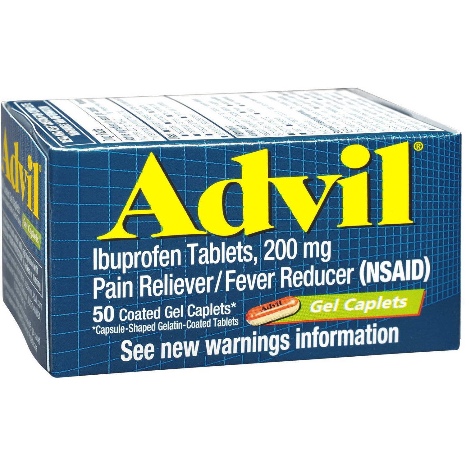 Advil Advanced Medicine For Pain 50 CT (Pack of 6 ...