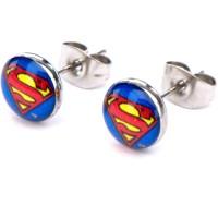 Superman - Superman Steel Stud Earrings - Walmart.com