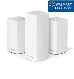 linksys velop triband ac4800 intelligent mesh wifi router replacement system 3 pack coverage up to 5 000 sq ft walmart exclusive walmart com [ 1015 x 1000 Pixel ]
