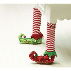Christmas Elf Chair Covers Kitchen Table Chairs 2 Upc 098111055088 Stockings And Slippers Leg Product Image For Burton Cover Decor Assorted