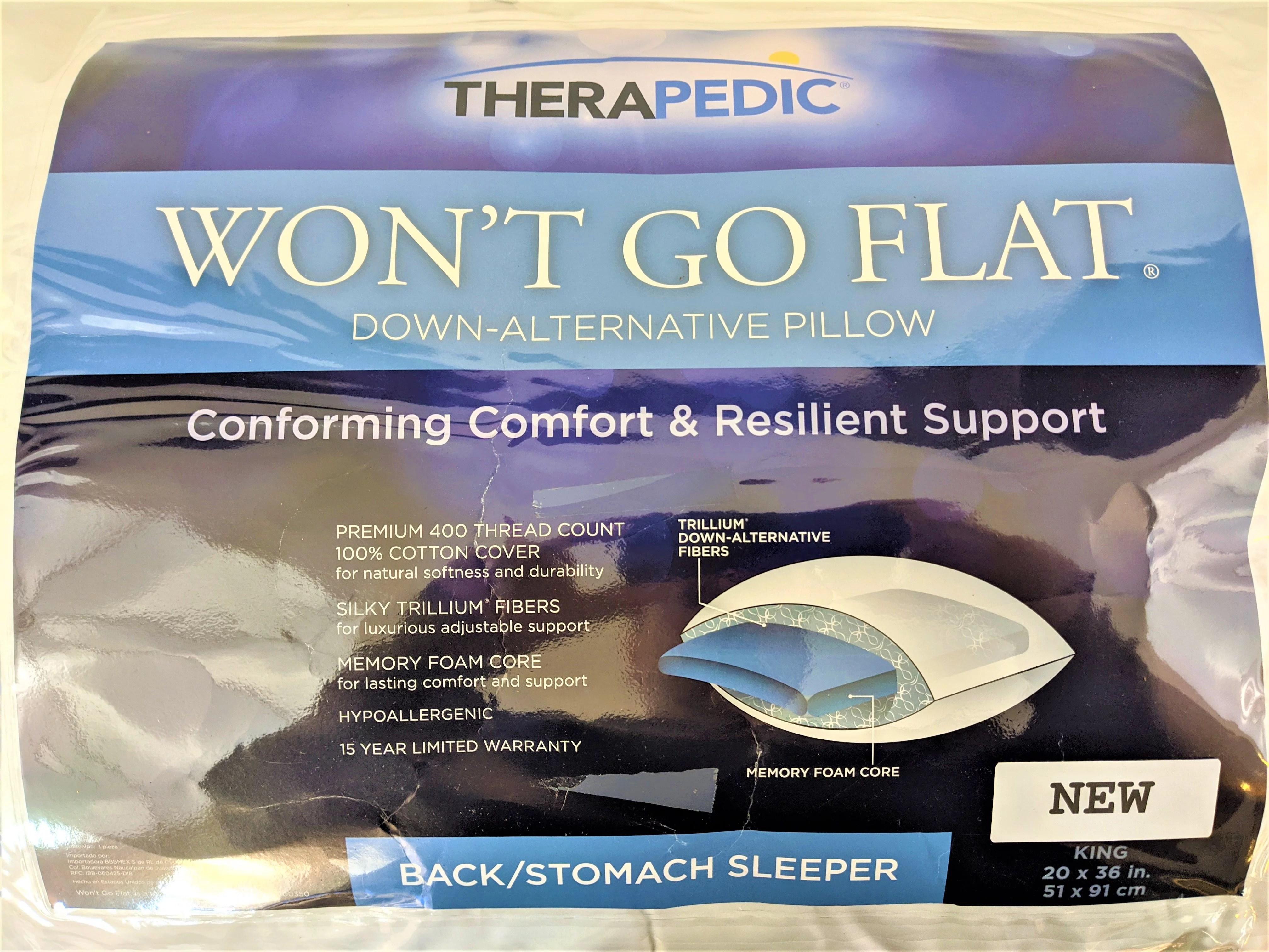 go flat pillow down alternative pillow