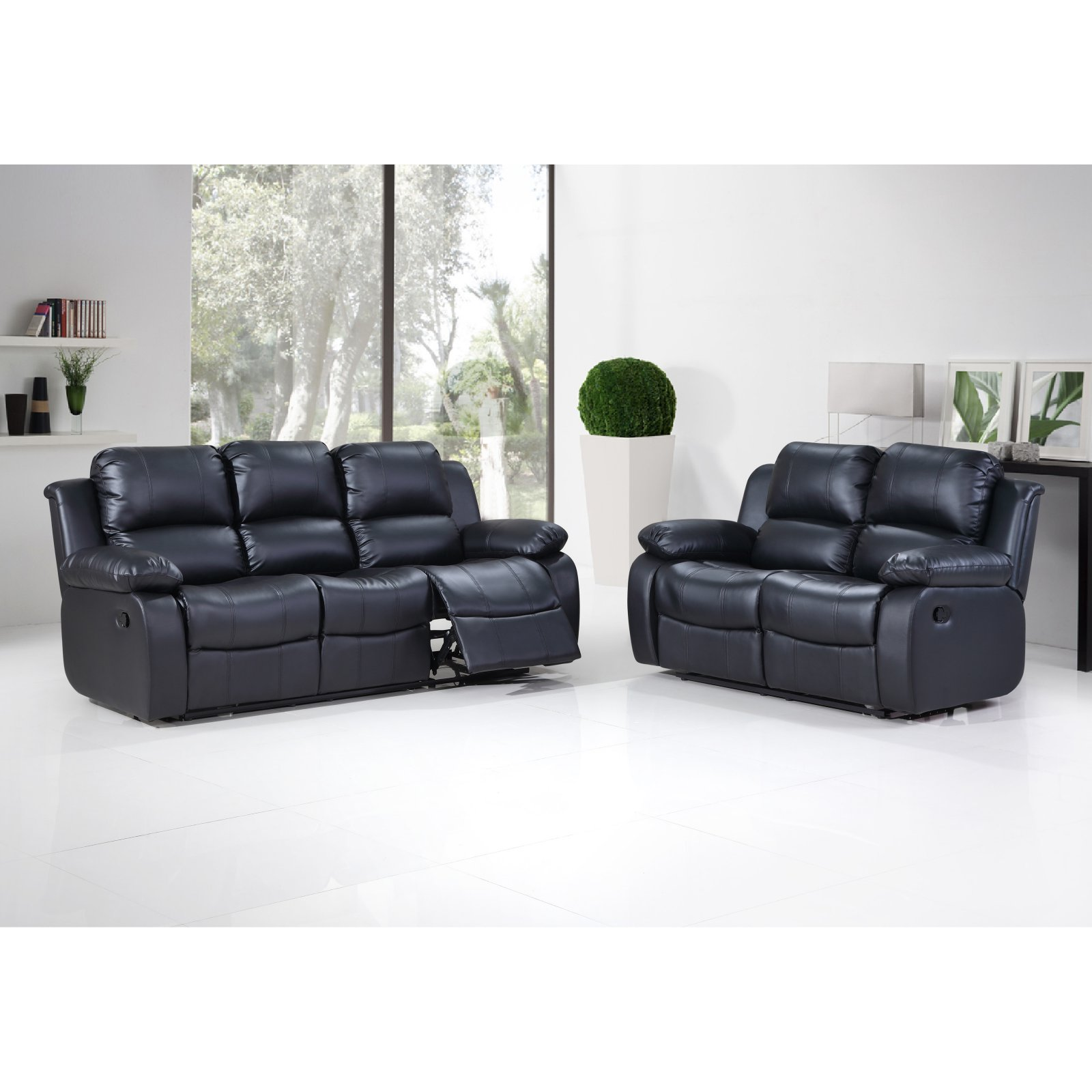 sofa and loveseat set up disassemble recliner hodedah imports 3 seat reclining walmart com