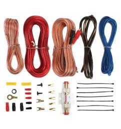 soundstorm 8 gauge car amplifier amp complete kit wiring installation with rca walmart com [ 1500 x 1500 Pixel ]