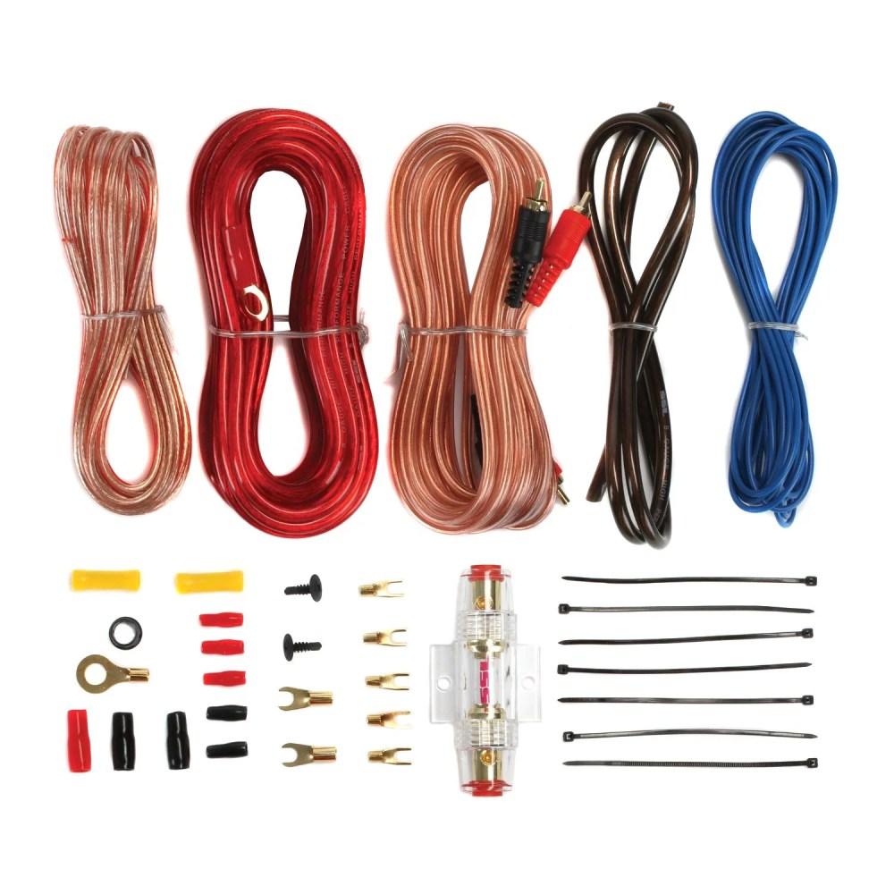 medium resolution of soundstorm 8 gauge car amplifier amp complete kit wiring installation with rca walmart com